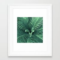 fern Framed Art Prints featuring Fern by ravynka
