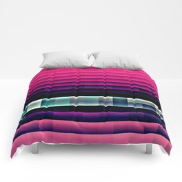 Hot Pink Pixels Comforters