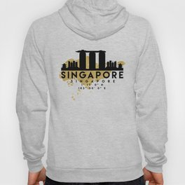 SINGAPORE SILHOUETTE SKYLINE MAP ART Hoody