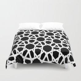 Blk white Crochet Duvet Cover
