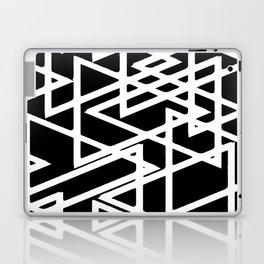 Interlocking White Triangles Artistic Design Laptop & iPad Skin