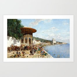 Alberto Pasini Market Day in Constantinople Art Print