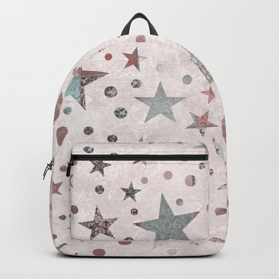 Pink Patchwork Stars Backpack