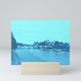 Paris In Blue Mini Art Print