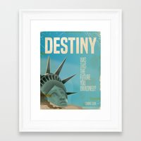 planet of the apes Framed Art Prints featuring Destiny Statue of Liberty  by Nick's Emporium