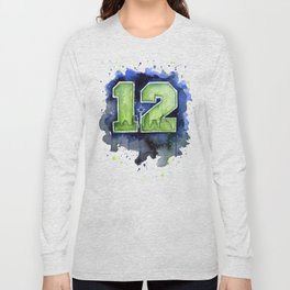 Seattle 12th Man Art Long Sleeve T-shirt