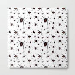 Black Widow spider halloween Metal Print