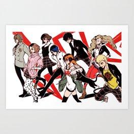 Persona 5 Characters Art Print