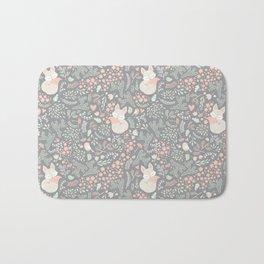 Sleeping Fox - grey Bath Mat