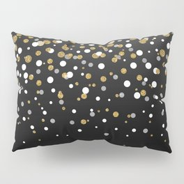 Pretty modern girly faux gold glitter confetti ombre illustration Pillow Sham