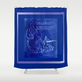 Warrior 3 With Heavenly Host Shower Curtain