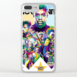 Blak Panther Series In Pop Art Clear iPhone Case