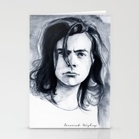 coconutwishes Stationery Cards featuring Harry Watercolors B/N by Coconut Wishes
