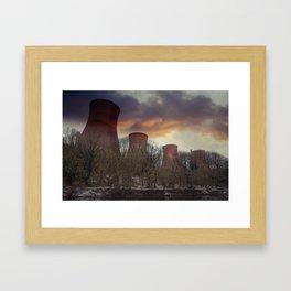 Sunset At Ironbridge Power Station Framed Art Print