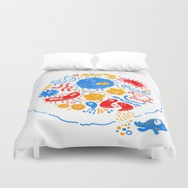 Primary soup Duvet Cover