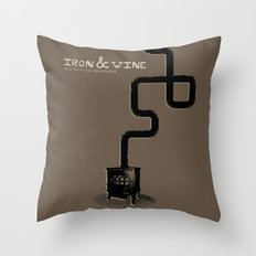 Iron & Wine Throw Pillow