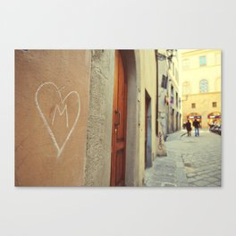 M - Heart  Canvas Print