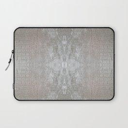 Silver Velvet Snake Pattern Laptop Sleeve