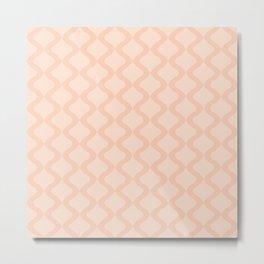 Alva Pattern - Peach Metal Print