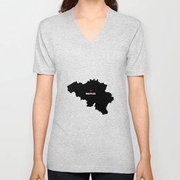 Capital of Belgium Unisex V-Neck