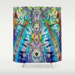 The pigeon totem Shower Curtain