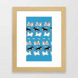 Shiba Inu pattern Framed Art Print