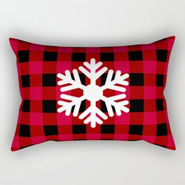 Red Buffalo Check - snowflake - more colors Rectangular Pillow
