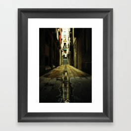 Barcelona Alley Framed Art Print