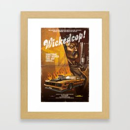 Wicked Cop Framed Art Print