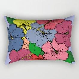 Hibiscus Flowers #2 Rectangular Pillow