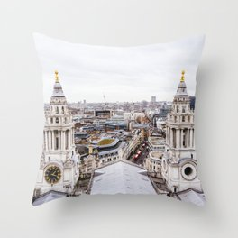 City View over London from St. Paul's Cathedral Throw Pillow