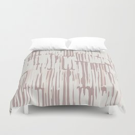 Simply Bamboo Brushstroke Lunar Gray on Clay Pink Duvet Cover
