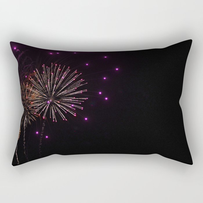 Purple Fireworks Rectangular Pillow
