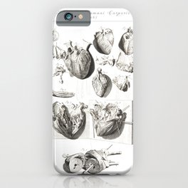 Human Anatomy Art Print HEART ATRIUM VENTRICLE Vintage Anatomy, doctor medical art, Antique Book Pla iPhone Case