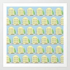 Yellow houses Art Print