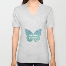 Kindness Matters Butterfly Expressions Unisex V-Neck