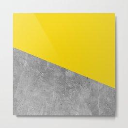 Geometry 101 Vivid Yellow Metal Print