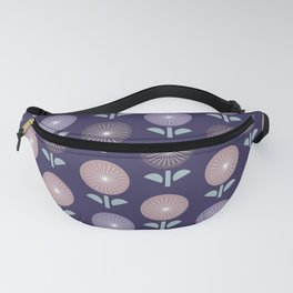Atomic Age Flower Pattern 3 Fanny Pack