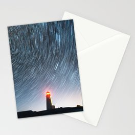 Lighthouse in the Stars Stationery Cards