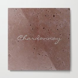 Chardonnay Wine Red Travertine - Rustic - Rustic Glam Metal Print