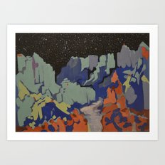 Grand Canyon nightfall Art Print