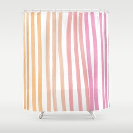 Taffy Chalk Stripes Shower Curtain