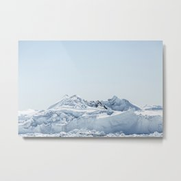 wall of ice Metal Print