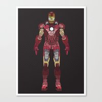 iron man Canvas Prints featuring Iron Man Iron Man by Josh Topp
