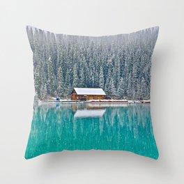 idyllic winter scene #society6 #decor #buyart Throw Pillow