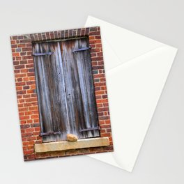 Wood Plank Shutters Stationery Cards