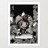 ace Art Prints featuring Ace by Anca Chelaru
