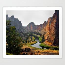 Desert Rock Valley Art Print