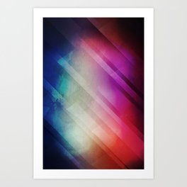Vivid - Colorful Geometric Mountains Texture Pattern Art Print