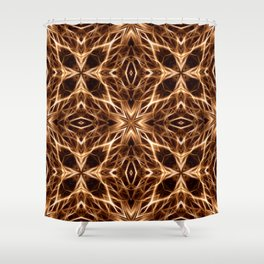 Abstract Geometric Light Factual Copper Shower Curtain